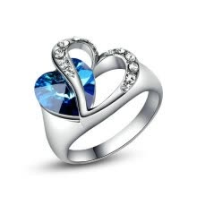 engagement-rings-Yoursfs® 18K White Gold Plated Ocean Heart Rings Use Austrian Crystal Fashion Jewelry on JD