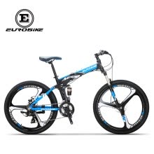 8750504-Eurobike 26' Folding Mountain Bike Aluminium Frame Shimano 21 Speed Full Suspension Bicycle Daul Disc Brakes MTB on JD
