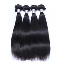 -9A Unprocessed Virgin Human Hair 4 Bundles Braziliain Virgin Hair Straight Hair Weave Extensions on JD