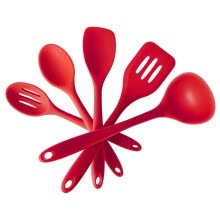 -5 Piece Premium Silicone Baking Utensil Set,  -  Turner,Spatula,Soup ladle,Heat Resistant Cooking Tools on JD
