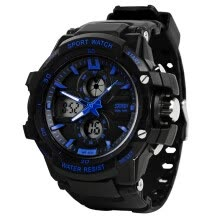 dual-display-watches-skmei men's sports luminous electronic watch blue, large size on JD