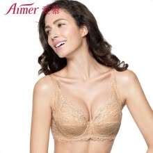ffd2d92f39210 Love Aimer bra micro flower love 3 4 cup thin non-woven large size lingerie  gathered close milk AM12JE1 color B75