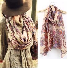 women-scarves-CANIS@Hot Fashion Women's Vintage Flower Pattern Long Scarf Shawl on JD