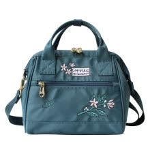 -Flower Princess Orange Blossom Open Embroidered Art Bag Messenger Bag Shoulder Bag Handbag Nylon Female Bag 1708AX015 Gray Green Blue on JD