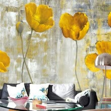 -Custom 3D Wall Murals Wallpaper European Style Retro Abstract Flower Mural Art Living Room Bedroom Non-woven Backdrop Wallpaper on JD