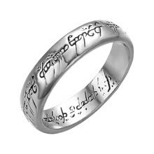 -Yoursfs Lord of the Rings Magic Tungsten Carbide Steel One Ring Wedding Band For Men Women on JD
