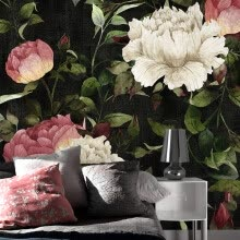 -Custom photo wallpaper Hand painted flowers garden wallpaper wall painting fashion art living room bedroom wallpaper mural on JD