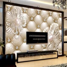 -Custom Mural Wallpaper 3D Soft Pack Diamond Jewelry Flower Luxury Wall Paper Hotel Living Room TV Backdrop Murales De Pared 3D on JD