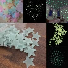8750202-NicerDicer Home Wall Night Glow Space Star Stickers Ceiling Decal Baby Kid Room Colorful 96549 on JD