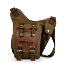 Fashion Vintage Men Messenger Bags Casual Outdoor Travel Hiking Sport  Casual Chest Canvas Small Retro Military Shoulder Bag ae6d410bf61ec