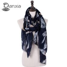 875062531-DIANXIA New Brand Women Scarf Twill Cotton Shawl Pashmina Print Floral 4 Color With Tassel Lady Winter Hot Sale 110*180CM on JD