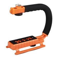 875072536-YELANGU S2-2 YLG0106B-B C-shaped Video Handle DV Bracket Stabilizer for All SLR Cameras and Home DV Camera(Orange) on JD