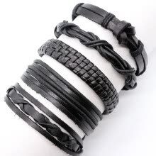 875062458-5Pcs Braided Leather Bracelet Mens Ladies Friendship Bracelet on JD