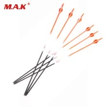 8750503-6 pcs Pure Carbon Arrow Spine 400 OD 7.6mm ID 6.2mm Orange Shaft With Blazer Vanes For Achery Bow Hunting Free Shipping on JD