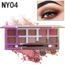 eye-shadows-Eyeshadow Pallete Professional 10Colors Make up Palette Matte Shimmer Glitter Pigmented Eye Shadow Powder on JD