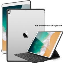 875061487-For iPad Pro 10.5 Inch 2017 Case Slim Shell Clear Cover Compatible w/ Smart Keyboard on JD