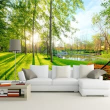 -Nature Landscape Sunshine Forest Wall Mural Custom Photo 3D Wallpaper Living Room Sofa Background 3D Mural Wall Paper Home Decor on JD