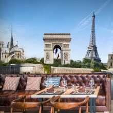 -Custom photo wallpaper Paris tower Triumphal Arch scenery 3D large wallpaper living room background dining room wallpaper mural on JD