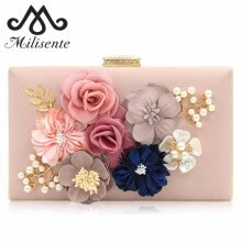 875062576-Milisente 2018 New Women Clutch Bag Ladies Black Evening Bags Ladies Royal Blue Day Clutches Purses Female Pink Wedding Bag on JD