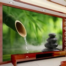 -Custom 3D Photo Wallpaper Green Bamboo Cobblestone Photography Background Wall Painting Decorations Living Room Modern Wallpaper on JD