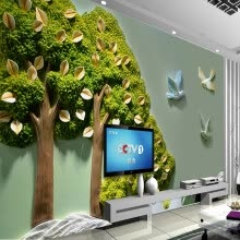 -Custom Photo Wallpaper Home Decor 3D Stereoscopic Relief Trees Leaves Bird Wall Painting Living Room TV Background Decor Mural on JD