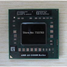 -1pcs/lot Quad-Core A6-3400M 1.4Ghz Socket FS1 A6 3400M AM3400DDX43GX A6-Series notebook CPU PROCESSOR on JD