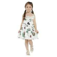 -Girls Summer Dress 2018 New Arrival Print Flowers Patchwork Layered Dresses For Girl Kids Clothes Casual Style Loose Party Dress on JD