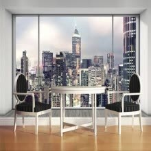 -Customized Size 3D Window New York City Landscape Wallpaper for Bedroom Living Room Interior Art Decor Photo Mural Wallpaper on JD