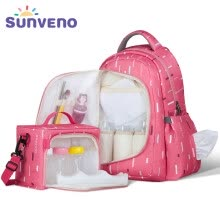 27b4e18dc656 SUNVENO 2in1 Diaper Bag Fashion Mummy Maternity Nappy Bag Baby Travel  Backpack Organizer Nursing Bag for Baby Care Mother   Kids
