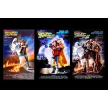 -Trilogy Back to the Future classic movie fantasy living room home art decor fabric posters prints EX009 on JD
