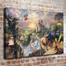 8750202-Beauty and the Beast Falling in Love HD Print on the Canvas Oil painting Home Decor Living Room bedroom wall art Fashion on JD