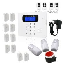 8750214-Wireless GSM and SMS Burglar Alarm Security System with Motion Detector Gate Intruder Sensor Control App ios Android on JD