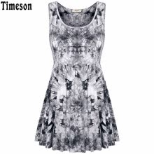 73f8c4d508 New Summer Style Women Tank Tops Black Round Neck Sleeveless Fashion Floral  Print Women Floral Pleated Sleeveless Sexy Tunic Top