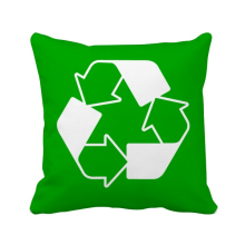 -Recycle Green Square Warning Mark Square Throw Pillow Insert Cushion Cover Home Sofa Decor Gift on JD