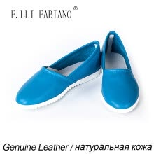 -F.LLI.FABIANO Shoes Flat Genuine Leather Shoes Casual Style Women Thin Shoes JS1302-188 Sky Blue Comfortable Simple Walking Shoe on JD