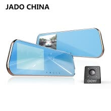 -JADO D610S Novatek Car Dvr 5.0 IPS Screen Full HD 1080P Car Dvrs Dual Lens Recorder Car Camera Dashcam Rearview Mirror Registrar on JD