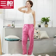 a7e89d221d7 Three Guns Women s Cotton Pajama Pants Soothing Cotton Cute Cartoon Knit  Cotton Women s Home Pants Pomegranate Red L