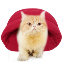 8750208-Soft Warm Pet Dog Cat Bed House Plush Cozy Nest Mat Pad Cushion Pet Cave Wine on JD
