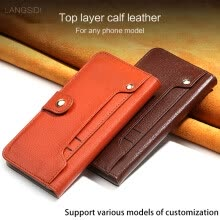 -Luxury Genuine Leather flip Case For iPhone X 6 7 8 Plus Litchi Texture Card slot phone cover on JD