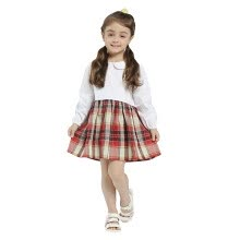 0d21a22ac Girls Summer Spring Dress 2018 New Arrival Casual Style Long Sleeve  Patchwork Loose Dresses Kids Clothes Girl Dresses Cotton