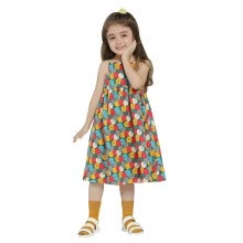 -Girls Dress 2018 New Arrival Summer Fashion Kids Clothes Birthday Party Dresses For Girl Cotton Casual Print Sleeveless Hot on JD