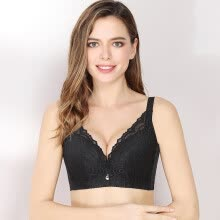 70074d8c12950 Xia Weifang bra sexy lace large size small full cup thin cotton cup  underwear adjustable thin section breathable large size bra 5190 black C85