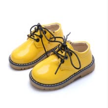 boys-shoes-Kids Shoes 2018 Spring Fashion Flat PU Leather Girls Boys Shoes With Side Zip Toddler Baby Soft Waterproof Children Casual Shoes on JD