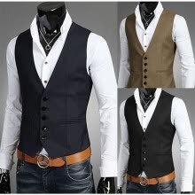 875061886-2018 New Fashion Spring And Autumn Men Tide Korean Slim Plus gentleman Vest Men's Jacket Suit Vest For Men M-5XL Suit Accessories on JD
