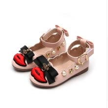 0705cd192 Kids Shoes for Girl Princess Flat 2018 Spring New Fashion Pearl Bow Children  Shoes Girls Shoes Pu Leather Sandals Baby Shoes