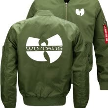 -Wu Tang Clan HIP HOP Bomber Flight Flying Jacket Winter thicken Warm Zipper Men Jackets Anime Men's Casual Coat (13) on JD