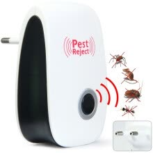 insect-repellent-lamps-EU Plug Multi-purpose Electronic Pest Repeller Ultrasonic Mosquito Rejector for Home Office on JD
