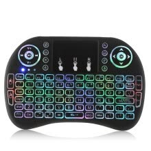 keyboards-2.4GHz Mini Wireless Keyboard with Seven Color Backlight on JD