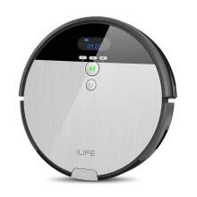 Robot-Vacuum-Cleaner-ILIFE V8s Smart Robot Vacuum Cleaner with 750ML Big Dustbin,with  I-Dropping Mopping for Hard Floors on JD