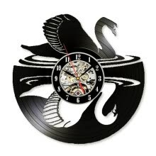 -Classical Design Decorative Vinyl Wall Clock Swan Record Wall Art Decor Gift for Kid on JD